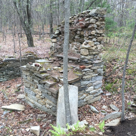 The remains of the chimney.